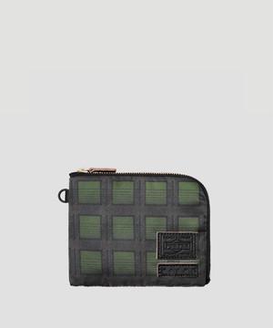 MARNI × PORTER Zip Wallet Green PFP2Q0P2945Z2F74UNI