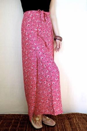 ふつう巻き67cm M丈95cm ピンク時蔓花柄