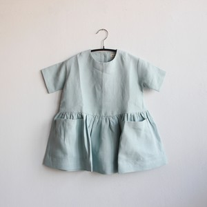 《AS WE GROW 2020SS》Pocket dress short sleeve / sage