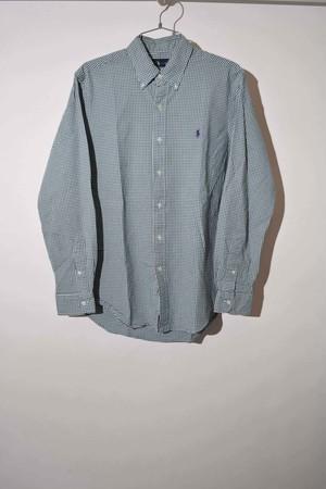 【Mサイズ】 RALPH LAUREN CHECK BD SHIRT 長袖チェックシャツ GREEN 400602190722