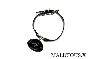 eye circle ring choker / rainbow