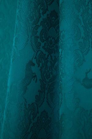 グラースオリジナル色無地 ユニコーンダマスク 青緑(あおみどり)仕立て込
