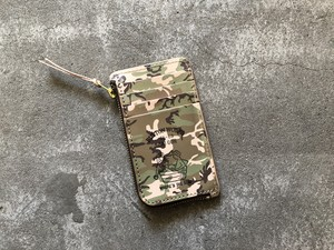 button works ボタンワークス camouflage card case-wood