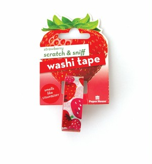 strawberry scratch & sniff washi tape /PH