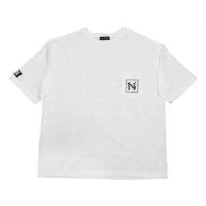 """NOI5E"" Tシャツ(ウェーブノイズ)(ホワイト)"