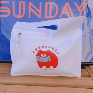 毎日日曜日的雑貨店PVCミニバッグ