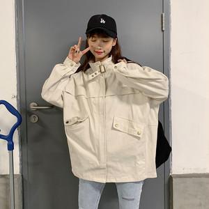 【アウター】韓国風オーバーサイズルーズスタンドネックトレンチコート