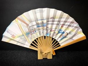 【7寸5分】夏用あおぎ扇子 川崎(東海道53次/2A)