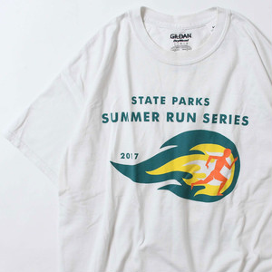 【Lサイズ】 SUMMER RUN SERIES 2017 TEE 半袖Tシャツ WHITE L 400601191076