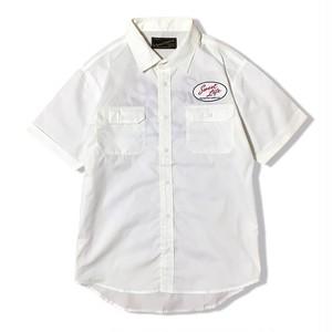 """受注生産!DUCKTAIL CLOTHING S/S WORK SHIRT """"Sweet Life"""" 半袖 ワークシャツ ホワイト 白"""
