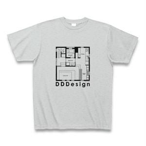 DDDesignオリジナルTシャツ-02(グレー)