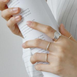 Design mat solid silver ring 変形 デザイン マット ソリッド シルバー リング