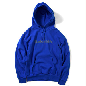 "Lafayette(ラファイエット)""Lafayette ラファイエット RHINESTONE LOGO US COTTON HOODED SWEATSHIRT""[ROYAL]"