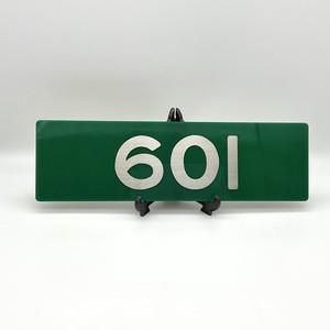 レリーフ 大阪電気軌道 600系車番レプリカ 601号車