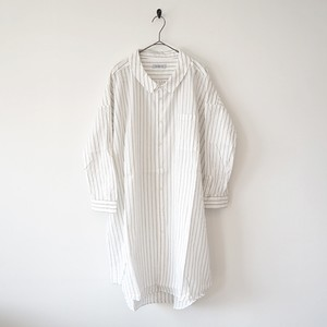 Ordinary fits オーディナリーフィッツ LONG BARBER SHIRT BLACK
