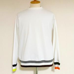 【予約商品:9月22日~入荷予定】Color Block Rib Crew Sweat Shirts White