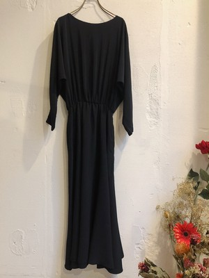 vintage black dolman sleeve dress