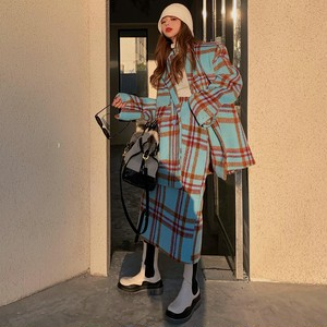 【セット】(単品注文)綿入りスーツ+スカートファッション通勤セットアップ37213656