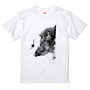 Sumi Black Ink Boar Tee T-shirt 墨 猪 亥 イノシシ Tシャツ