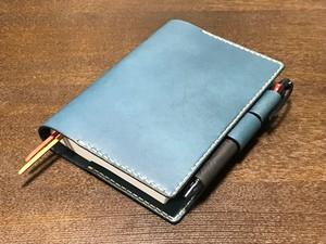ほぼ日手帳カバー A6サイズ ブルー
