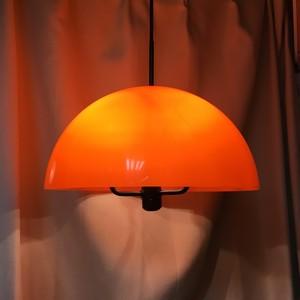 レトロなドーム型ペンダント照明【オレンジ/カスタム】(0203301140)
