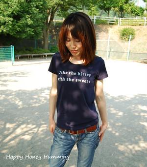 Tシャツ Take the bitter ネイビー 紺色 オリジナルtシャツ