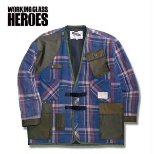 Working Class Heroes  Gardening Cardigan -Blue02