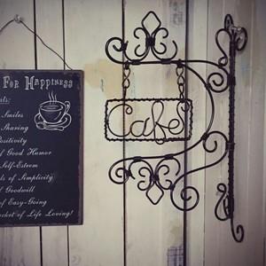 アンティーク壁掛看板~Cafe~