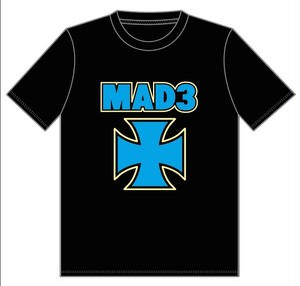 MAD3/IRON CROSS T-shirts col.blk