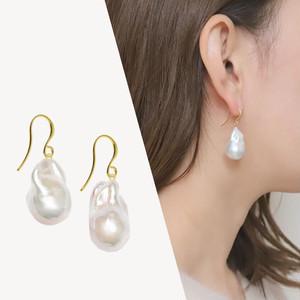 【選べるパール】Sクラス baroque pearl drop pierce / earring