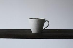 貫入と銀彩の美しき器 陶芸作家【谷井直人】白×銀彩 マグカップ