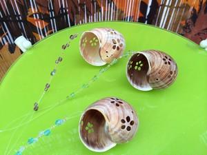 透かし彫り貝殻のキラキラオーナメント*花柄*アンブラ貝