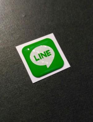 LINE風 LINE文字 カラー LINE ライン カラー色々 スマホ アイコン プックリシール
