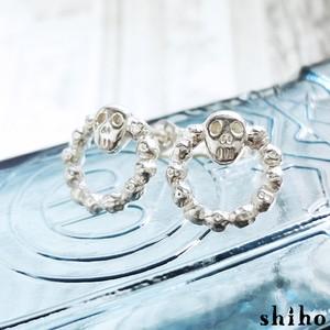 スカルのサークルピアス【skull circle pierce(sv)】