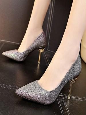 【shoes】high heel no pain summer feminine temperament pumps