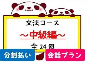 毎月払い★文法コース【会話プラン】~中級編~