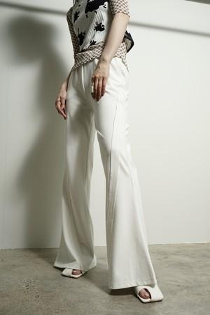 STITCH FLARE PANTS  (WHITE) 2105-594-HK51