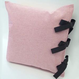 【カバーのみ】 canvas plain  クッションカバー ribbon SQ