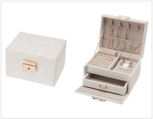 キルトジュエリーボックスMサイズ鍵付き ルーシーコレクション 1個単位 JB-8300