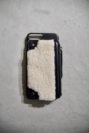 【A scene】Matchy mouton case 7plus/8plus共通 white