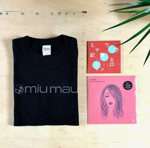 【Special 】miu mau  /  Tシャツ( size M )  +(アルバム) +  ( EP )+  (7インチレコード)