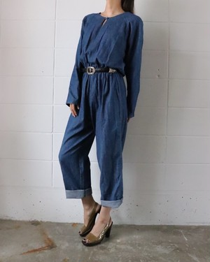 Denim all-in-one