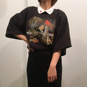 """Day Breeze"" Vintage docking collar bird design sweat"