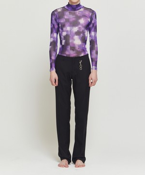 Pixelate Floral Turtleneck