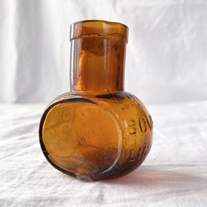 1920~1930's England Glass Bottle -Brown-