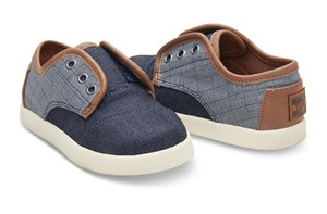 30%OFF !  TOMS BLUE DENIM TEXTILE TINY TOMS PASEOS   トムス キッズ