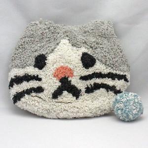【グレネコ】もこもこアニマルポーチ【猫グッズ 猫雑貨 14218-000-099】