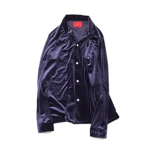 TTT_MSW VELOUR SHIRT NAVY