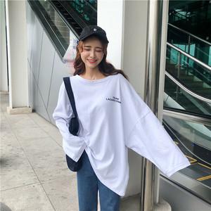 【送料無料】全2色♡ロゴ入り♡オーバーサイズ♡ロングTシャツ♡