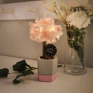 cutie cherry blossom pot mood light 2colors / 桜 フラワー ライト